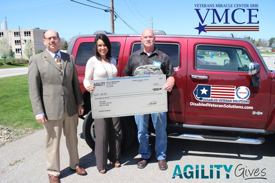 We wish to extend a hearty Thank You to AGILITY for their generous donation of $500.00