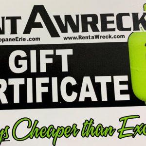 Propane Refill Gift Certificate