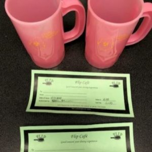 (2) Gift Certificates and Plastic Cups