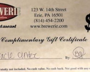 Gift Certificate - The Brewerie at Union Station
