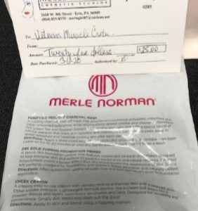 Gift Certificate and Small Sample Bag