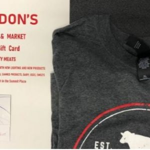 T-Shirt and $50 Gift Certificate
