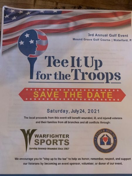 3rd Annual – Tee It Up for The Troops Golf Tournament