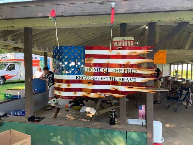 Donated Metal Flag