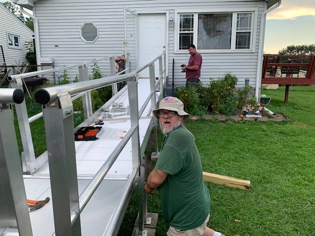 Fred and George .Dismantle Wheelchair Ramp.-2