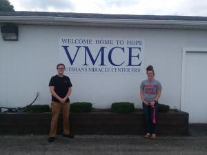 Volunteers Kyiene and Charles